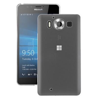 Microsonic Miscrosoft Lumia 950 Kılıf Transparent Soft Beyaz Cep Telefonu Kılıfı