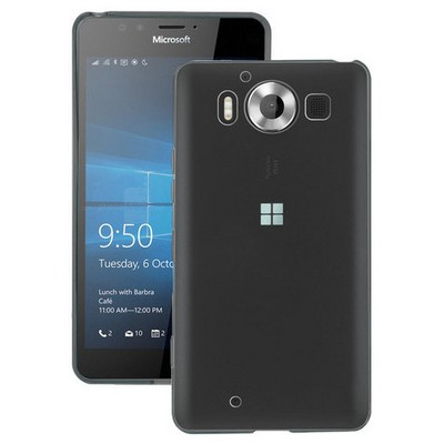 Microsonic Miscrosoft Lumia 950 Kılıf Transparent Soft Siyah Cep Telefonu Kılıfı