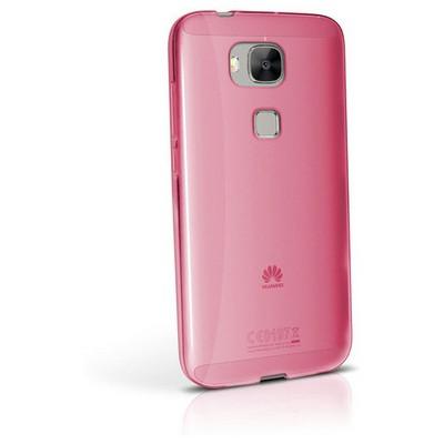 Microsonic Huawei Ascend G8 Kılıf Transparent Soft Pembe Cep Telefonu Kılıfı