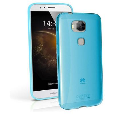Microsonic Huawei Ascend G8 Kılıf Transparent Soft Mavi Cep Telefonu Kılıfı