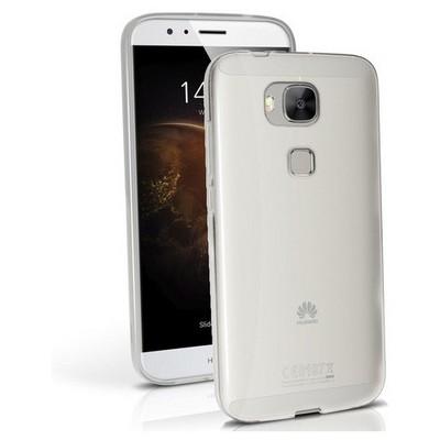 Microsonic Huawei Ascend G8 Kılıf Transparent Soft Beyaz Cep Telefonu Kılıfı