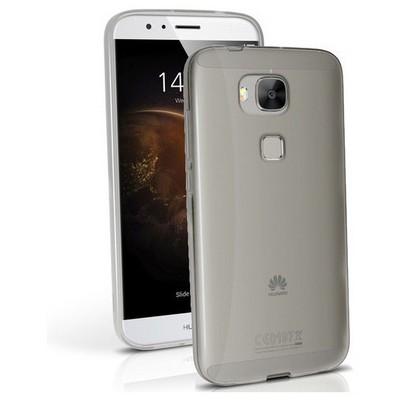 Microsonic Huawei Ascend G8 Kılıf Transparent Soft Siyah Cep Telefonu Kılıfı