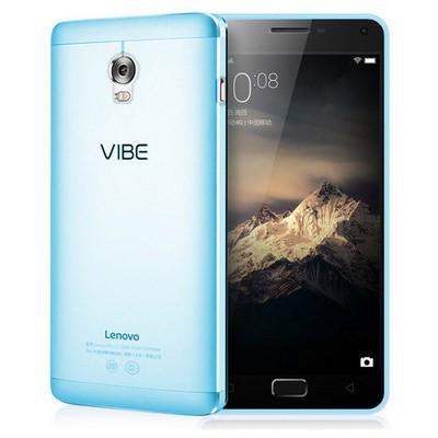 Microsonic Lenovo Vibe P1 Kılıf Transparent Soft Mavi Cep Telefonu Kılıfı