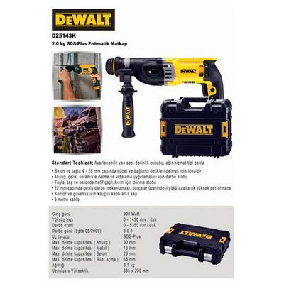 Dewalt D25143k 900watt 3.0j Profesyonel Sds-plus Kırıcı/delici Kırıcı / Delici
