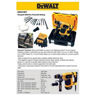 Dewalt D25414kt 1000watt 4.2j Profesyonel Sds-plus Kırıcı/delici Kırıcı / Delici