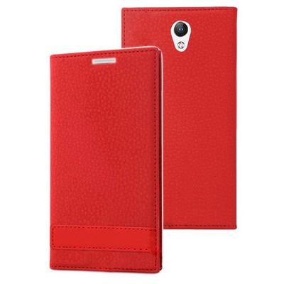Microsonic Lenovo Vibe S1 Kılıf Gizli Mıknatıslı Delux Kırmızı Cep Telefonu Kılıfı