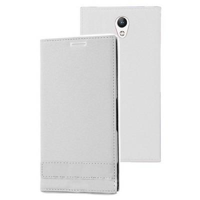 Microsonic Lenovo Vibe S1 Kılıf Gizli Mıknatıslı Delux Beyaz Cep Telefonu Kılıfı