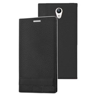 Microsonic Lenovo Vibe S1 Kılıf Gizli Mıknatıslı Delux Siyah Cep Telefonu Kılıfı