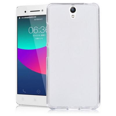 Microsonic Lenovo Vibe S1 Kılıf Transparent Soft Beyaz Cep Telefonu Kılıfı