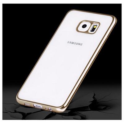 Microsonic Samsung Galaxy S6 Edge Plus Kılıf Flexi Delux Gold Cep Telefonu Kılıfı