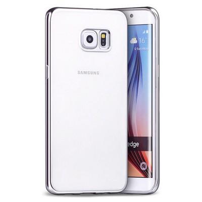 Microsonic Samsung Galaxy S6 Edge Plus Kılıf Flexi Delux Gümüş Cep Telefonu Kılıfı