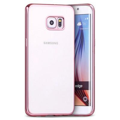 Microsonic Samsung Galaxy S6 Edge Kılıf Flexi Delux Rose Cep Telefonu Kılıfı
