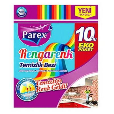 Parex Rengarenk Temizlik Bezi 10 Adet Bez / Sünger