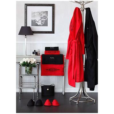 Pierre Cardin Blessing  Seti - Kırmızı - Siyah Bornoz