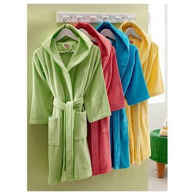 Taç Tekstil Taç Soft Classic 8-10 Yaş Çocuk  - Fuşya Bornoz