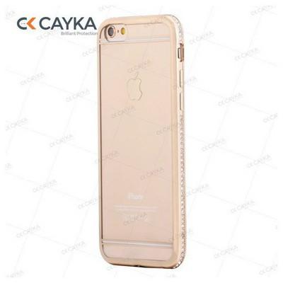 Cayka Cs-ttpu-g-app-6s Iphone 6s Taşlı Altın Kılıf Cep Telefonu Kılıfı