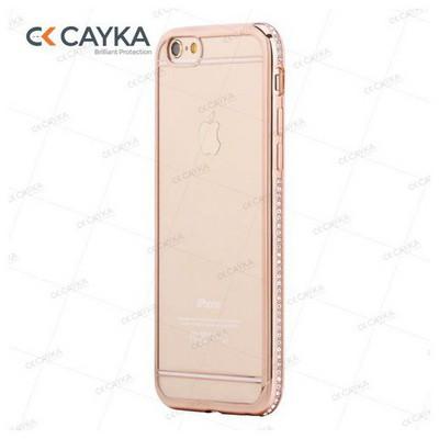 Cayka Cs-ttpu-r-app-6s Iphone 6s Taşlı Rose Kılıf Cep Telefonu Kılıfı