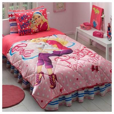 Taç Barbie Pretty Lisanslı Uyku Seti Ev Tekstili