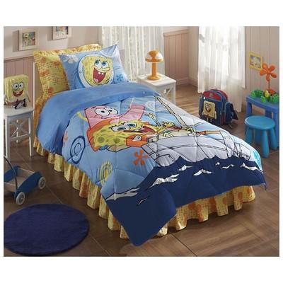 Taç Sponge Bob Boat Lisanslı Uyku Seti Uyku Setleri