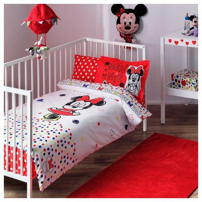 Taç Disney Minnie Sketch Baby Bebek Nevresim Takımı Ev Tekstili