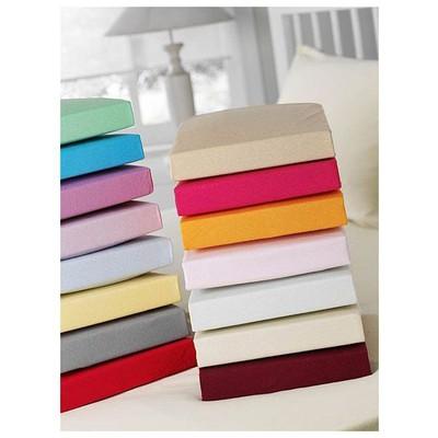Taç Jersey Lastikli Çarşaf Seti Çift Kişilik - Koyu Mavi Ev Tekstili