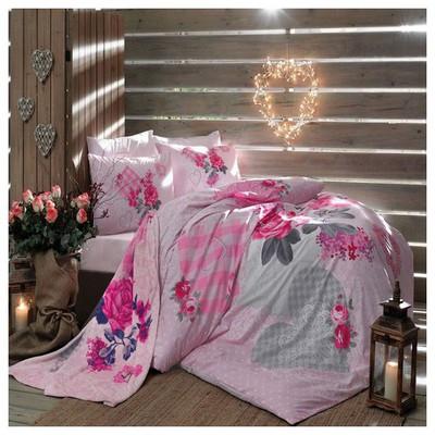 Taç Tekstil Taç Lavien Rose Yatak Şalı&nevresim Takımı Çift Kişilik Nevresim Takımı