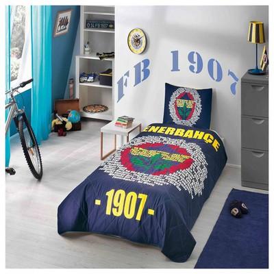 Taç Fenerbahçe Marşlı Logo Yatak Örtüsü Fenerbahçe Ürünleri