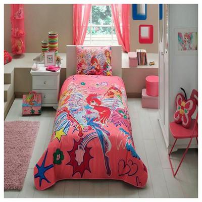 Taç Barbie Ballerina Yatak Örtüsü Yatak Örtüleri