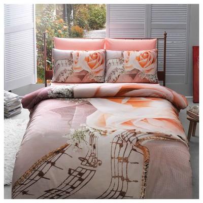 Taç Sonat Çift Kişilik 3d Saten Nevresim Takımı Ev Tekstili