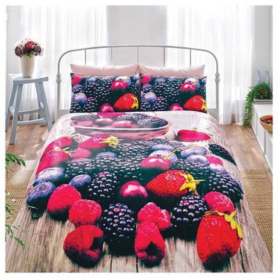 Taç Berry Tek Kişilik 3d Saten Nevresim Takımı Ev Tekstili