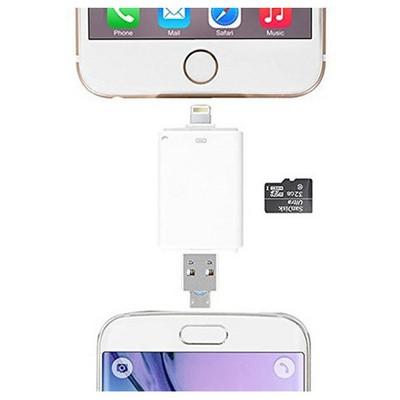 Microsonic Ios (iphone / Ipad) Ve Android Uyumlu Otg Micro Sd Kart Okuyucu Dönüştürücü Kablo