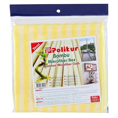 Polikur Bambu Mikrofiber Bez Bez / Sünger