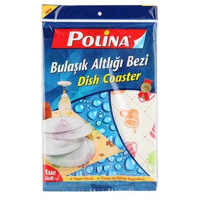 Polikur Polina Bulaşık Altlığı Bezi 34 X 48 Cm Bez / Sünger