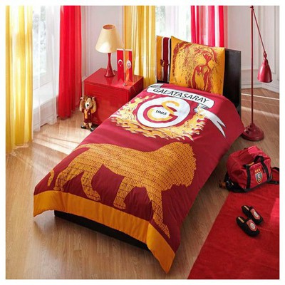 Taç Tekstil Taç Galatasaray Parlayan Logo Nevresim Takımı Galatasaray Ürünleri