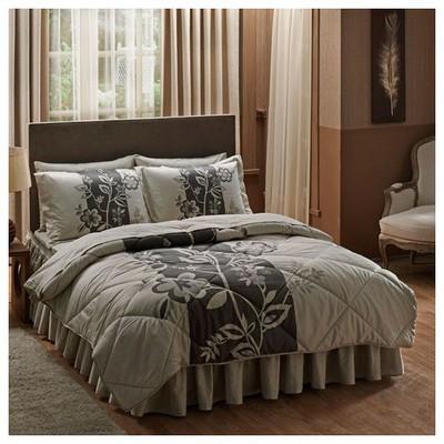 Taç Paulin Çift Kişilik Saten Uyku Seti - Krem Uyku Setleri