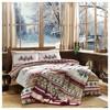 Taç Snow Tek Kişilik Battaniye Seti - Kırmızı Ev Gereçleri