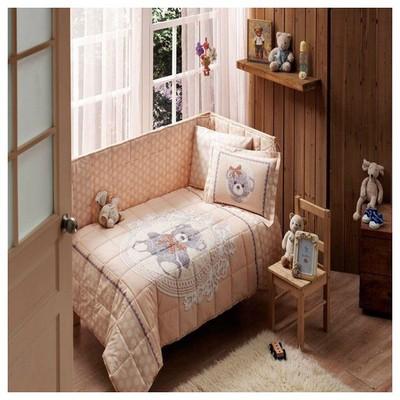 Taç Tekstil TAÇ LİTTLE BEAR BEBEK UYKU SETİ - Kahverengi Bebek Uyku Seti