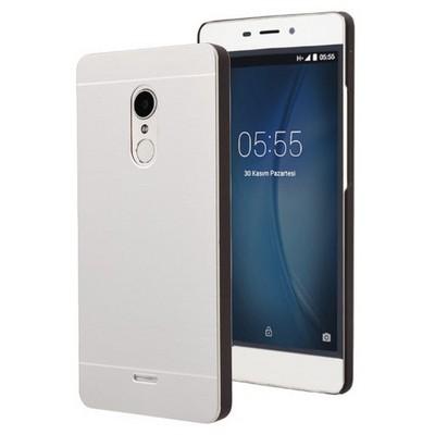 Microsonic Türk Telekom Tt175 Kılıf Hybrid Metal Gümüş Cep Telefonu Kılıfı