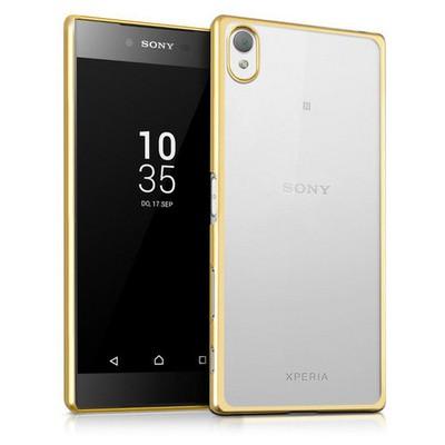 Microsonic Sony Xperia Z5 Premium Kılıf Flexi Delux Gold Cep Telefonu Kılıfı