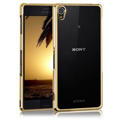 Microsonic Sony Xperia Z3 Kılıf Flexi Delux Gold Cep Telefonu Kılıfı