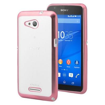 Microsonic Sony Xperia E4g Kılıf Flexi Delux Rose Cep Telefonu Kılıfı