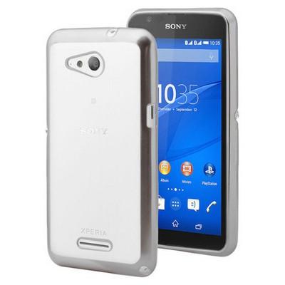 Microsonic Sony Xperia E4g Kılıf Flexi Delux Gümüş Cep Telefonu Kılıfı