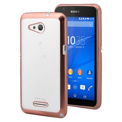 Microsonic Sony Xperia E4g Kılıf Flexi Delux Gold Cep Telefonu Kılıfı
