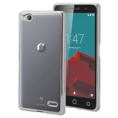 Microsonic Vodafone Smart 6 Kılıf Flexi Delux Gümüş Cep Telefonu Kılıfı