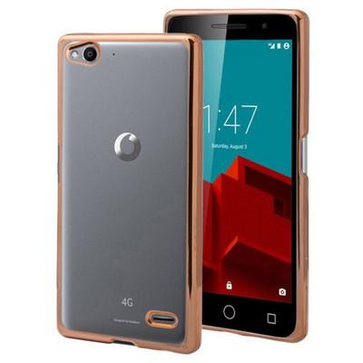 Microsonic Vodafone Smart 6 Kılıf Flexi Delux Gold Cep Telefonu Kılıfı