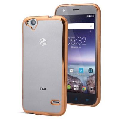 Microsonic Türkcell T60 Kılıf Flexi Delux Gold Cep Telefonu Kılıfı