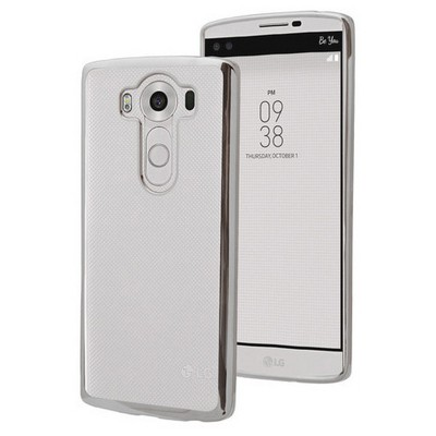 Microsonic Lg V10 Kılıf Flexi Delux Gümüş Cep Telefonu Kılıfı