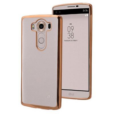 Microsonic Lg V10 Kılıf Flexi Delux Gold Cep Telefonu Kılıfı