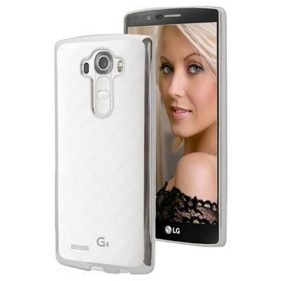 Microsonic Lg G4 Kılıf Flexi Delux Gümüş Cep Telefonu Kılıfı