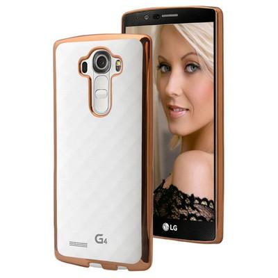 Microsonic Lg G4 Kılıf Flexi Delux Gold Cep Telefonu Kılıfı